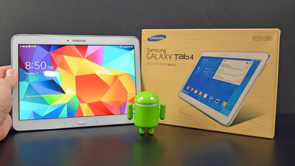 mise à jour tablette samsung tab 4