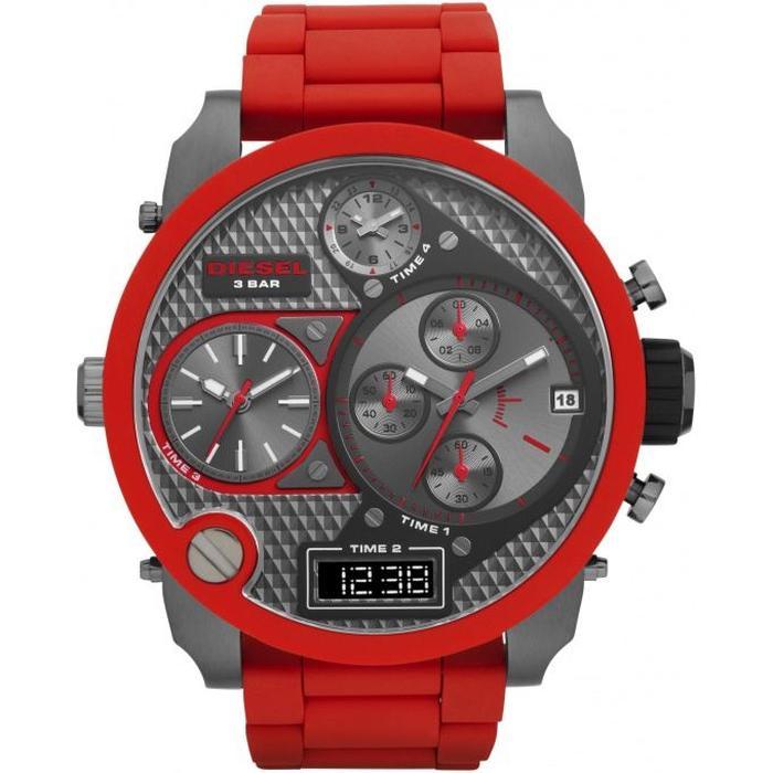 montre rouge diesel