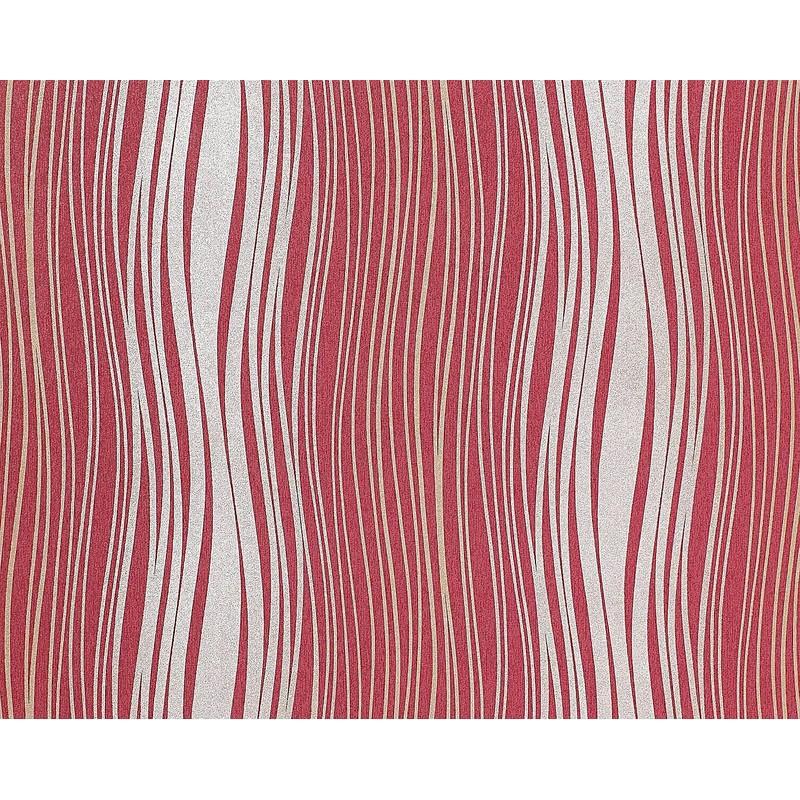 papier peint rouge et argent
