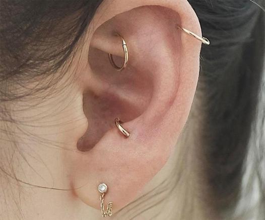 piercing anti tragus anneau