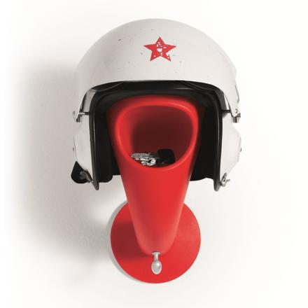 porte casque moto mural