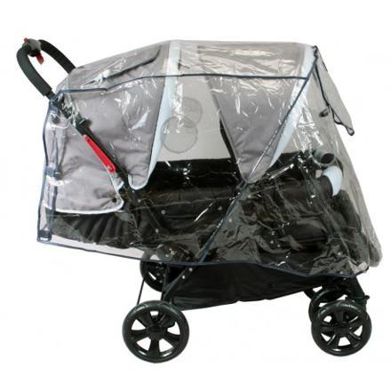 protege pluie poussette double