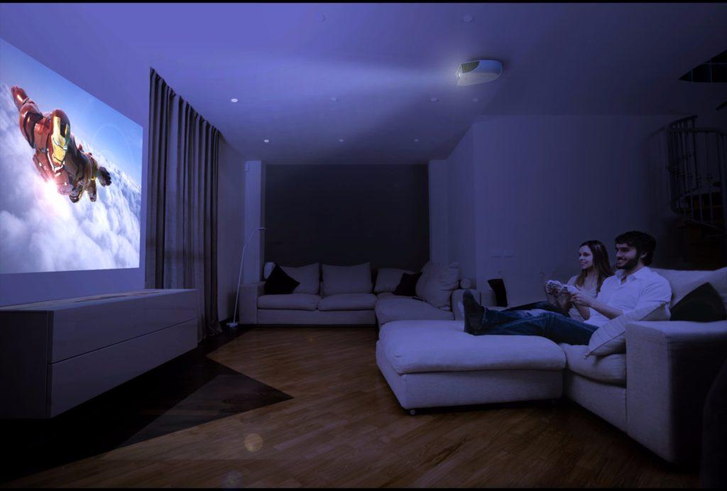 remplacer tv par videoprojecteur