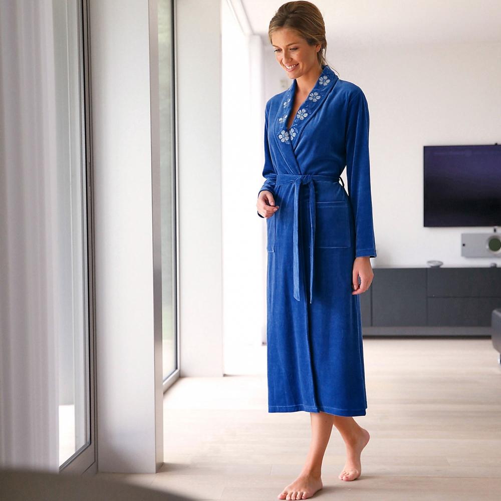 robe de chambre femme velours