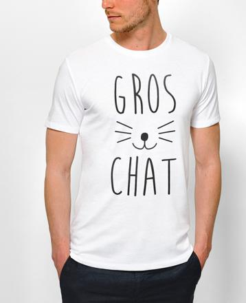 t shirt chat homme