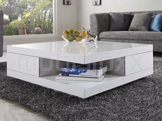 table salon blanc laqué
