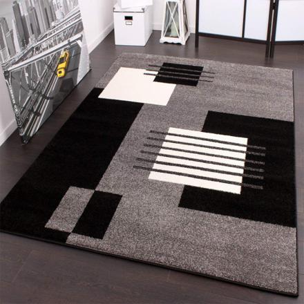 tapis gris blanc noir
